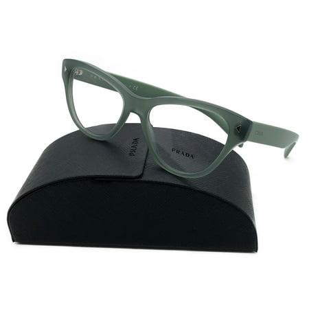 Prada VPR 23S UEI-1O1 Green On Light Green Eyeglasses 52mm 17mm 140mm w/Case](Light Up Eyeglasses)