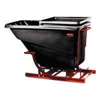 Rubbermaid Commercial Self-Dumping Hopper, 1 1 2 Cubic Yard, 1000 lb Capacity, Black Red by RUBBERMAID COMMERCIAL PROD.