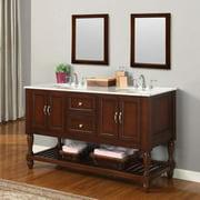 Direct Vanity Sink 5060D10-ES Mission Turnleg 60-in. Double Bathroom Vanity