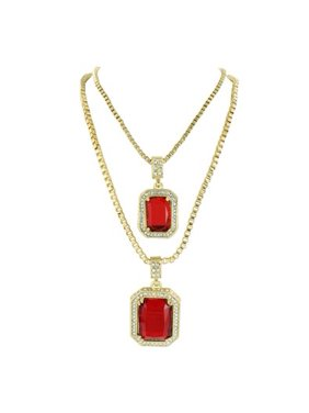 613eab20aabf2 Master Of Bling Womens Pendants & Necklaces - Walmart.com