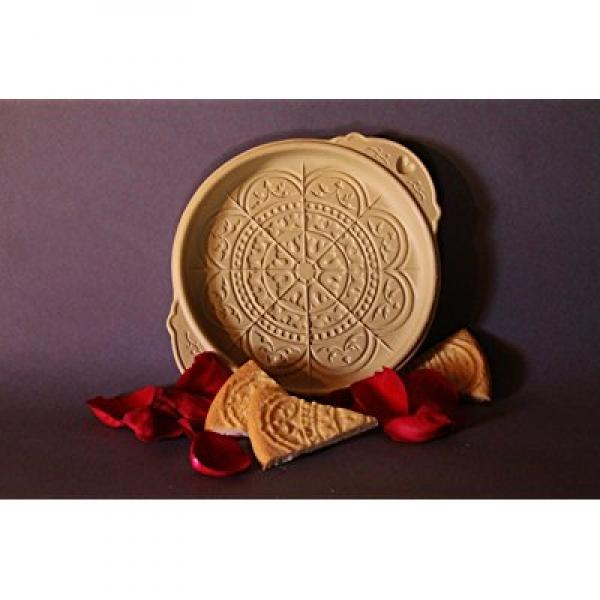 Brown Bag Rose Window Shortbread Cookie Pan by