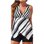 DZT1968Women Tankini Sets with Boy Shorts Ladies Swimming Costumes Two Piece Swimsuits