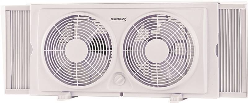 Optimus 8 Quot Reversible Twin Window Fan With Thermostat