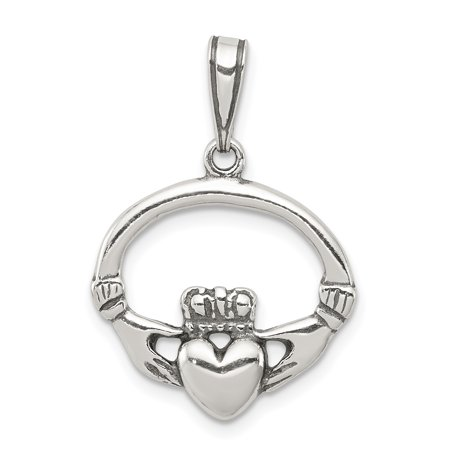 925 Sterling Silver Irish Claddagh Celtic Knot Pendant Charm Necklace Fine Jewelry For Women Gifts For Her - image 6 of 6