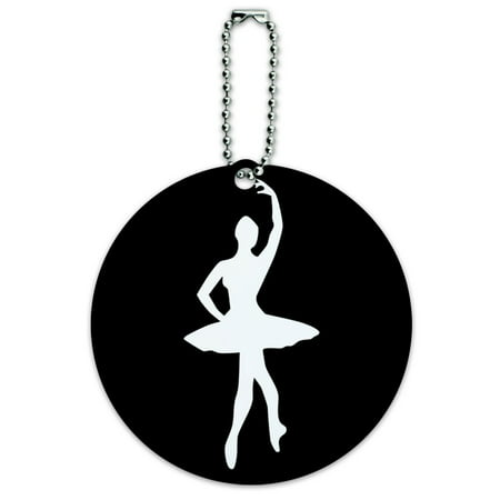 Ballerina Tag - Graphics and More Ballet Ballerina Round ID Card Luggage Tag