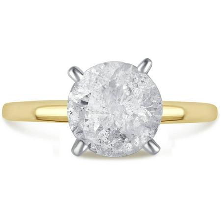 2 Carat T.W. Genuine Round White Diamond 14kt Yellow Gold Solitaire Ring, IGL Certified