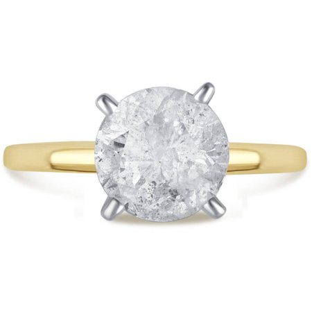 2 Carat T.W. Genuine Round White Diamond 14kt Yellow Gold Solitaire Ring, IGL Certified