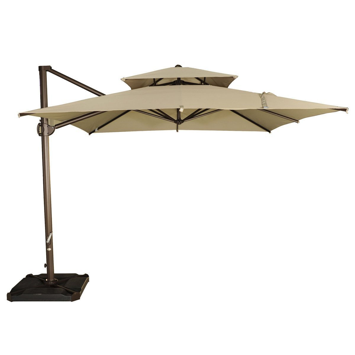 abba patio 99-ft square offset cantilever hanging patio umbrella 9 Ft Umbrella Base