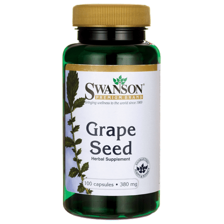 Swanson Grape Seed Capsules, 380 mg, 100 Ct