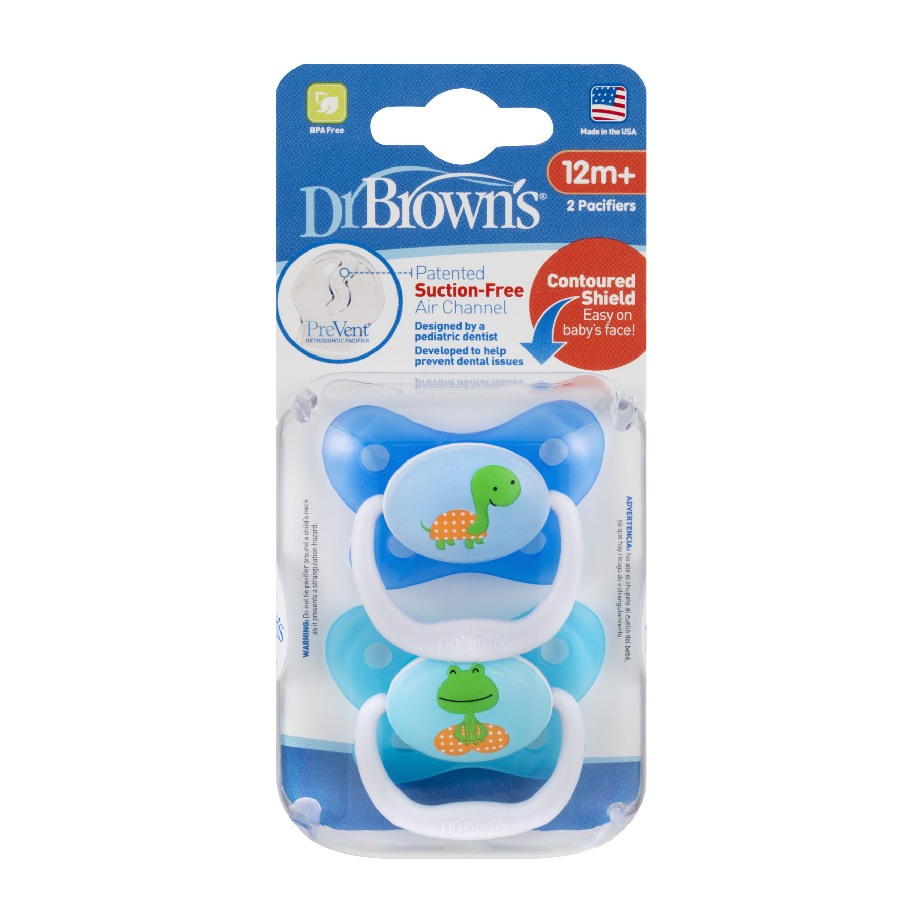Dr. Brown's PreVent Orthodontic Butterfly Pacifier, 12+ Months 2 Count by Dr. Brown%27s