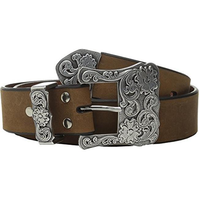 Nocona Western Womens Belt Leather Floral Engraved Brown N3497744