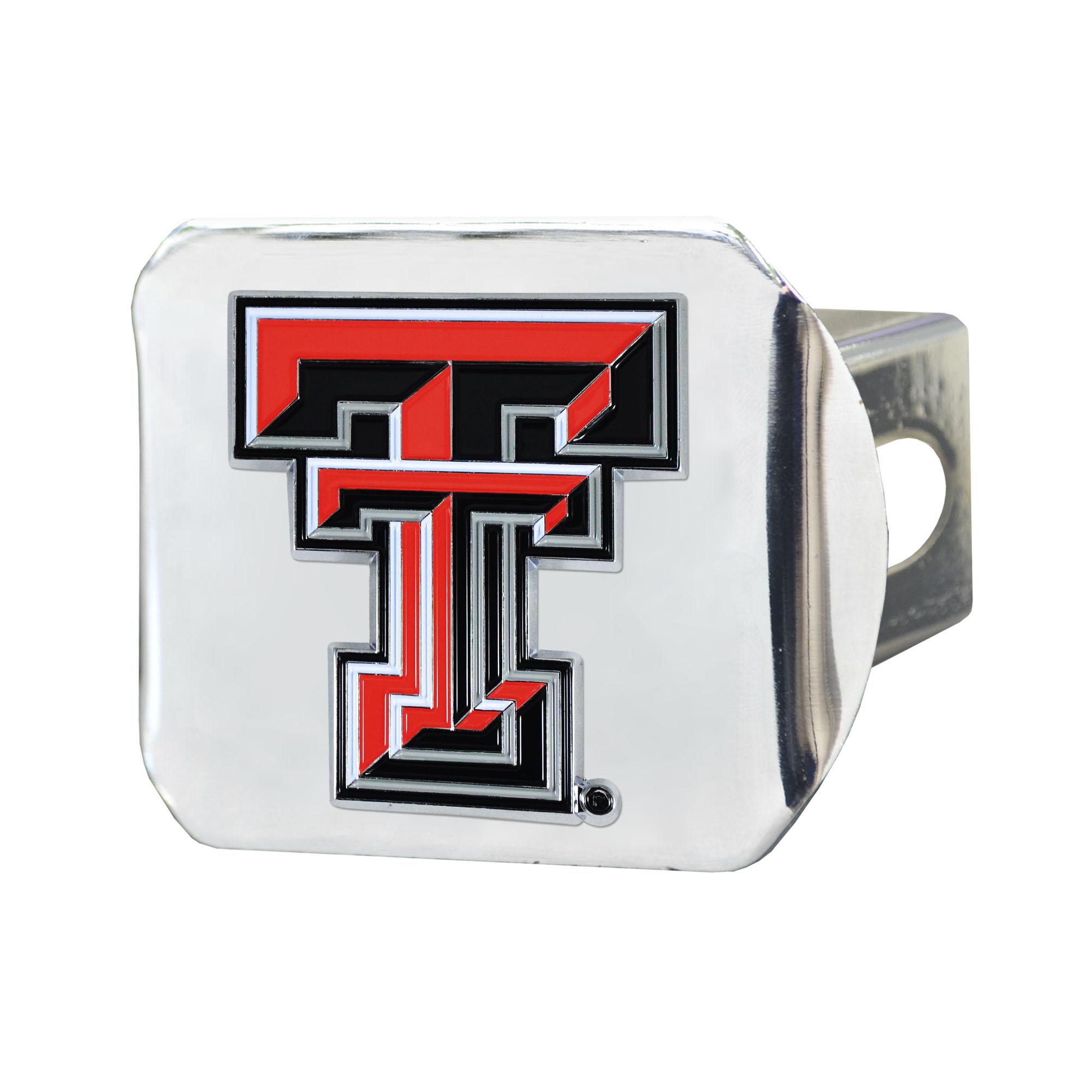 """Texas Tech University Color Hitch Chrome 3.4""""x4"""""""