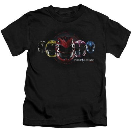 Power Rangers Head Group Little Boys Juvy Shirt