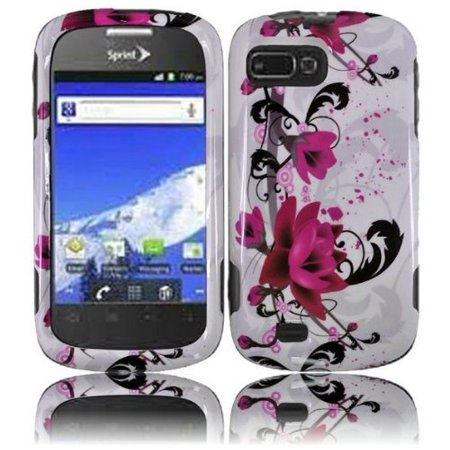 (Design Crystal Hard Case for ZTE Valet Z665C - Purple Lily)