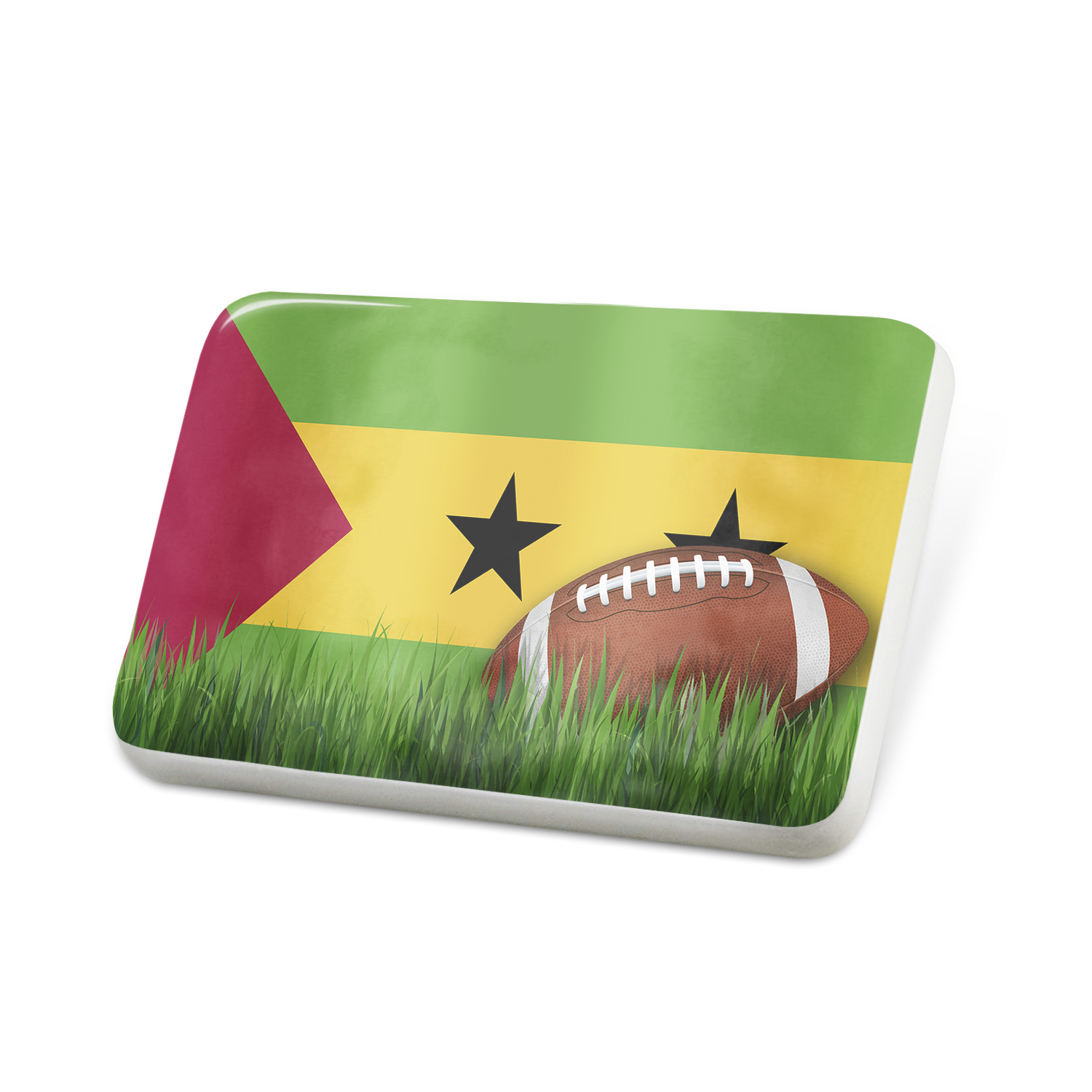 Porcelein Pin Football with Flag Sao Tome and Principe Lapel Badge – NEONBLOND