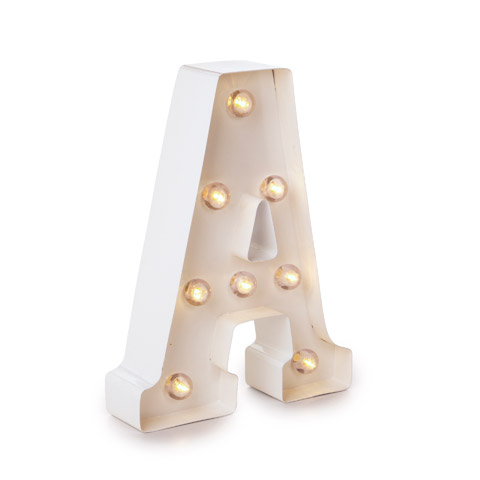 Darice Light Up White Marquee Letter - Letter A - 9.875 inches