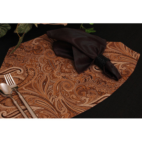 Pacific Table Linens Timeless Paisley Table Linens Reversible Wedge Placemat (Set of 2)