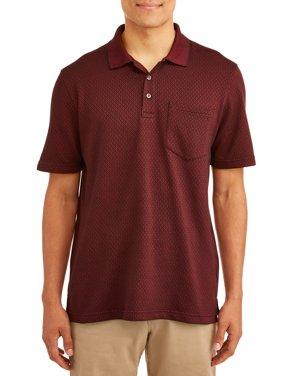 George Men's Short Sleeve Pattern Jersey Polo