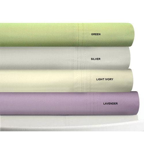 Tribeca Living 350 TC Egyptian Cotton Percale Deep Pocket Sheet Set