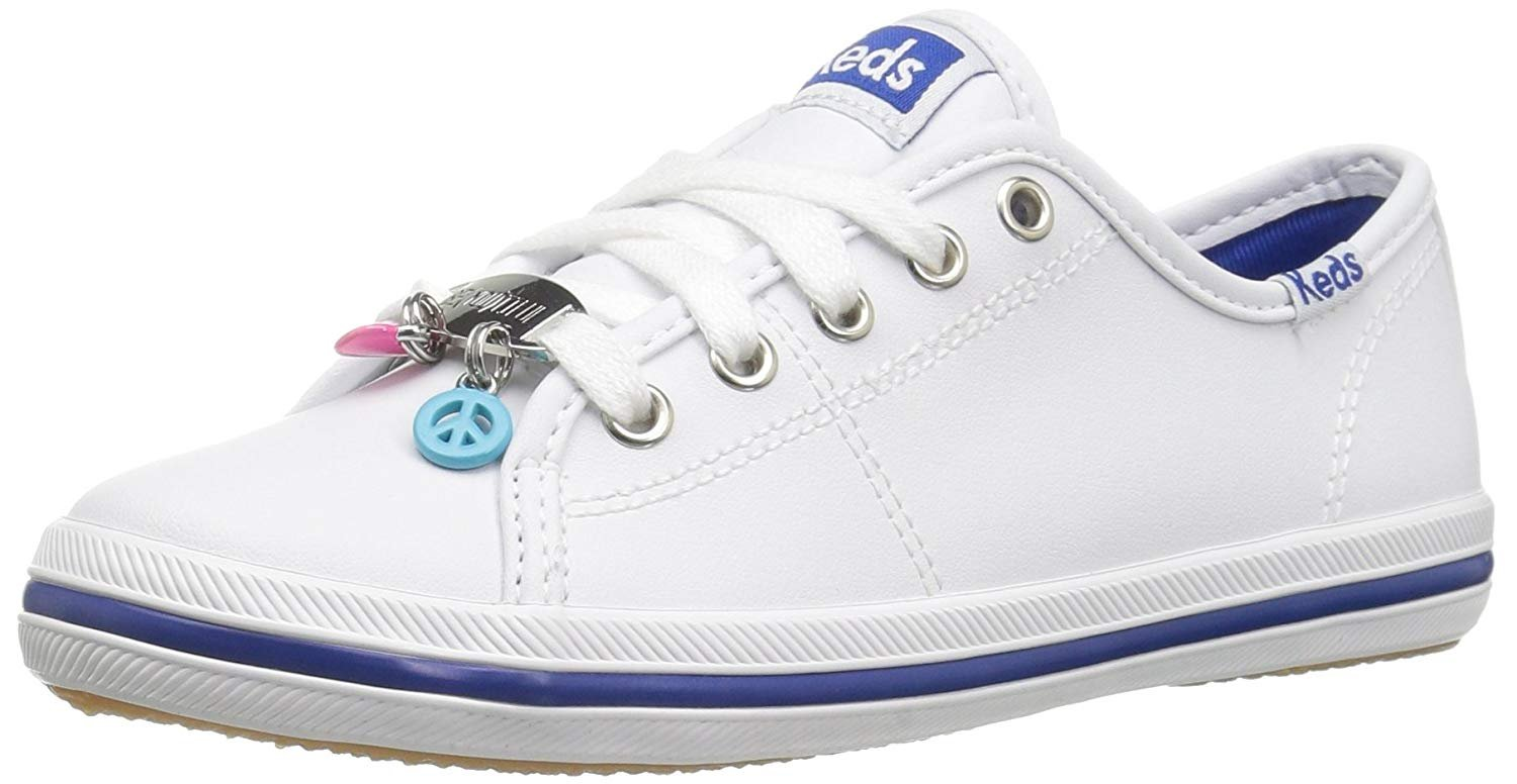 Keds Kickstart Charm Sneaker (Little Kid Big Kid), White Leather, 2.5 M US Little Kid by Keds