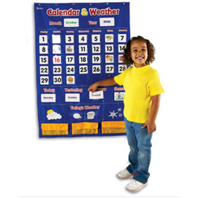 LEARNING RESOURCES LER2418 CALENDAR AND WEATHER POCKET CHART