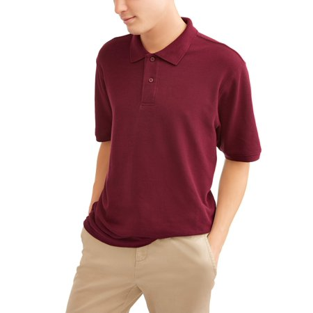Young Men's Short Sleeve Double Pique Polo, up to size 3XL