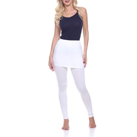Women's Solid Skirted Leggings - Skort With Leggings
