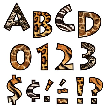ANIMAL PRINTS 4 INCH VENTURE READY LETTERS](Animal Print Letters)