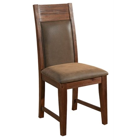 Alpine Furniture Pierre Set of 2 Dining Side Chairs in Antique Cappuccino Brown