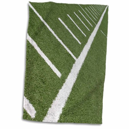 3dRose Football field with yard markers. - Towel, 15 by 22-inch - Football Field Supplies