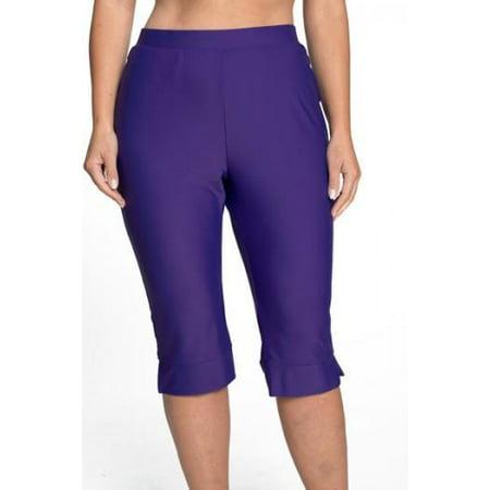 HydroChic Women's Plus Size Modest Swim Shorts - Pedal Pusher Style Swimwear