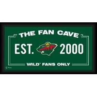 "Minnesota Wild Framed 10"" x 20"" Fan Cave Collage"