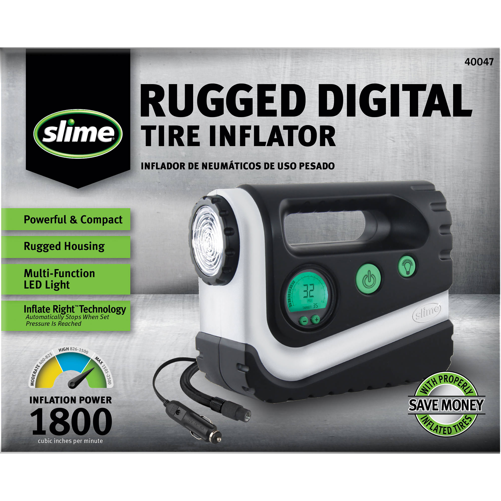 Slime Rugged Digital Tire Inflator - 40047