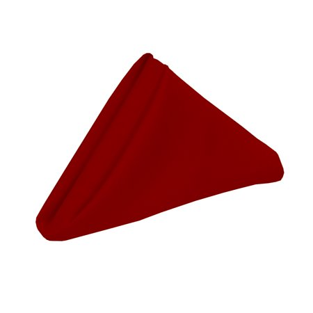 Your Chair Covers - 10 Pack 20 inch Polyester Cloth Napkins Dark Red ()