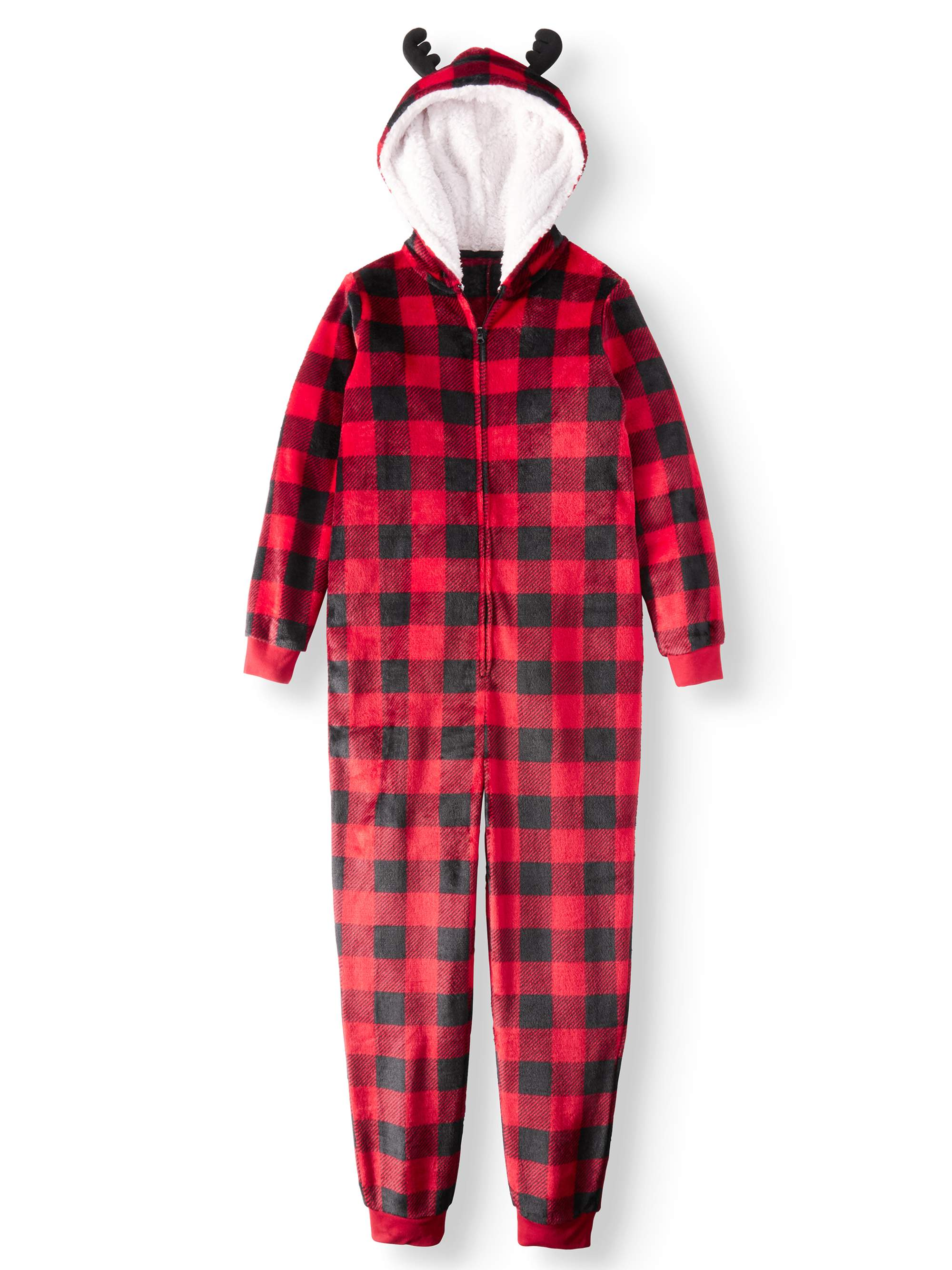 Family PJs Holiday Family Sleep Buffalo Plaid Union Suit Pajama (Girls and Boys)