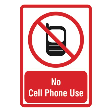 no cell phone use sign large phone business signs 12x18 walmart com