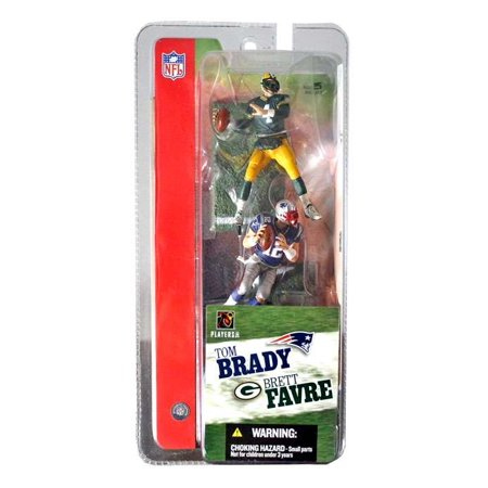 Brett Favre & Tom Brady Mini Figure 2-Pack 2-Pack NFL