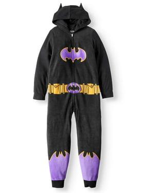 Batgirl Girls' Poly 1-Piece Footless Sleeper