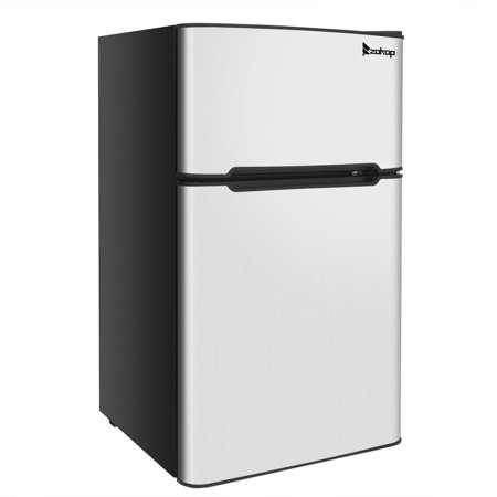 ZOKOP Mini Fridge 3.2 Cu Ft Two Door Design with Separate Freezer