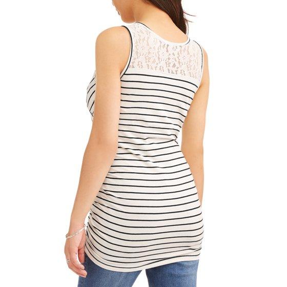 6a31041f312 Oh! Mamma - Maternity Nursing Sleeveless Stripe Surplice Top with ...