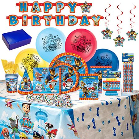 Paw Patrol Birthday Party Supplies and Decorations - 8 Guests - Paw Patrol Decorations