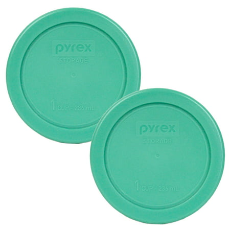 Cup Lids (Pyrex Replacement Lid 7202-PC Green Round Cover (2-Pack) for Pyrex 7202 1-Cup Bowl (Sold)