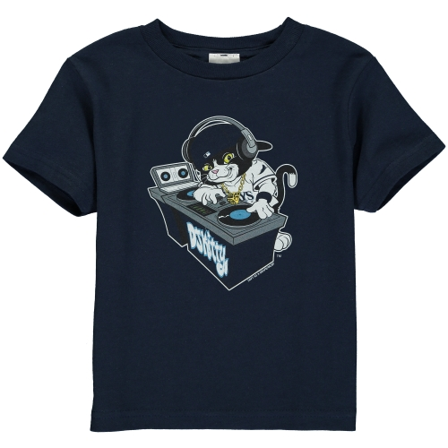 Tampa Bay Rays Toddler DJ Kitty Distressed Mascot T-Shirt - Navy