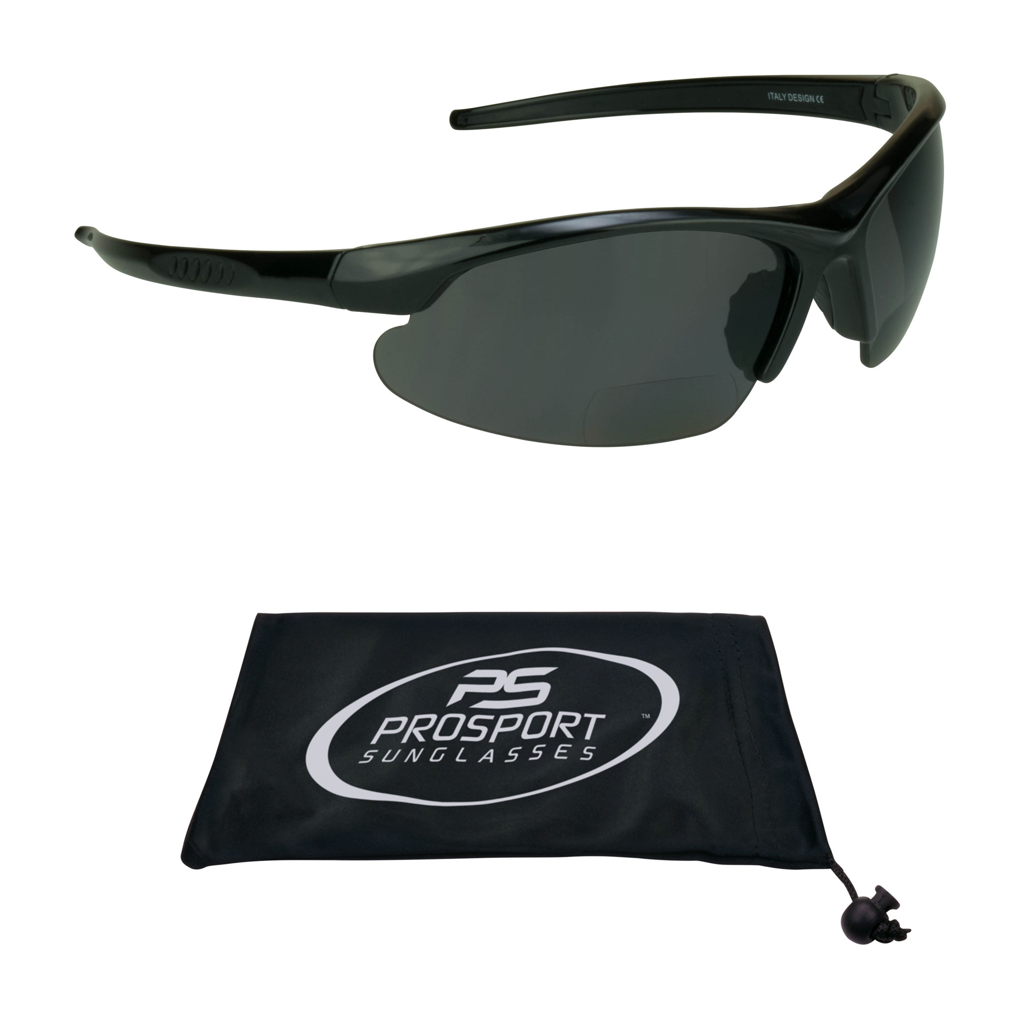 proSPORT Polarized Bifocal Sunglasses for Men and Women. Anti Glare Impact Resistant Polycarbonate Lenses.