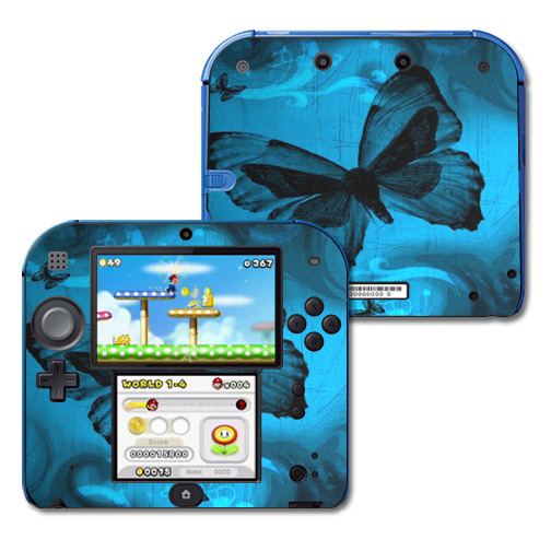Mightyskins Protective Vinyl Skin Decal Cover for Nintendo 2DS wrap sticker skins Dark Butterfly