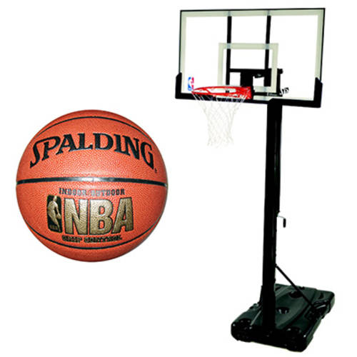 "Spalding Portable 54"" Backboard & Basketball Value Bundle"