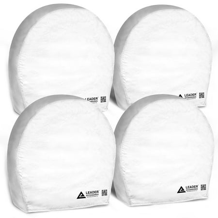 Leader Accessories 4Pcs Rv Tire Cover Wheel Covers For Camper Car Trailer Truck