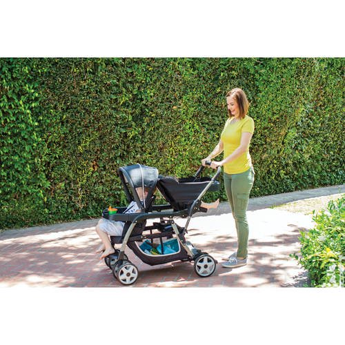 Graco Ready2grow Click Connect Lx Double Stroller Gotham Walmart