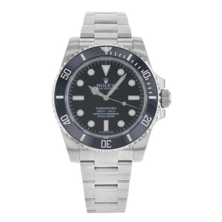 Rolex Submariner Black Dial No Date Steel Ceramic Automatic Men Watch 114060