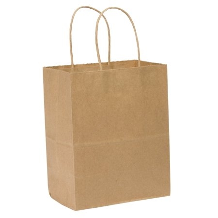 Safepro 10712 10x7x12 Inch Kraft Paper Shopping Bag With